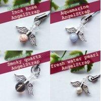 天然石 20種類パワーストーン天使のぷちストラップ