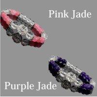 天然石 自己成長のお守りジェイドデザインブレスレット2種類
